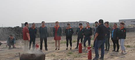 华能中天集团组织消防演练应对夏季高温火灾隐患